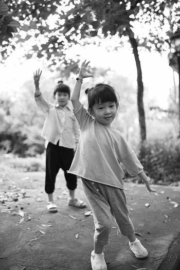 Childhood Full Length Girls Females Boys Front View