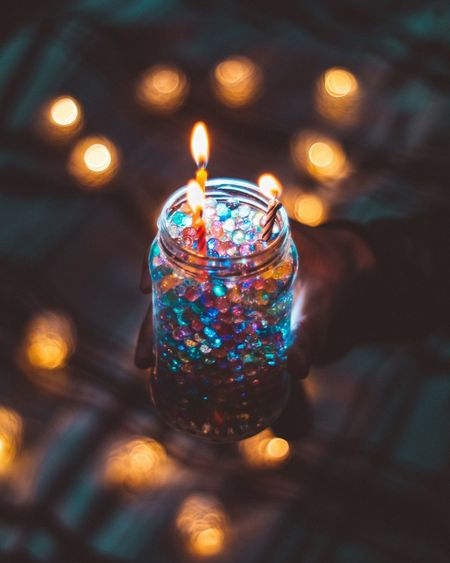 Flame Illuminated Candle Burning Glowing Heat - Temperature Lighting Equipment Celebration Indoors  Night Christmas Close-up No People Focus On Foreground Christmas Decoration Christmas Lights Oil Lamp Diya - Oil Lamp