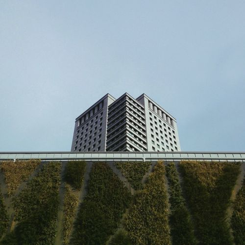 A shy building. The Week Of Eyeem Modern Outdoors Building Exterior Nature Minimalism Mix Yourself A Good Time
