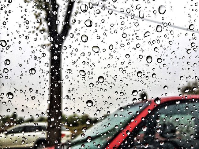 Drop Water Wet Window No People RainDrop Backgrounds Car Close-up Red Indoors  Land Vehicle Purity Nature Freshness Day