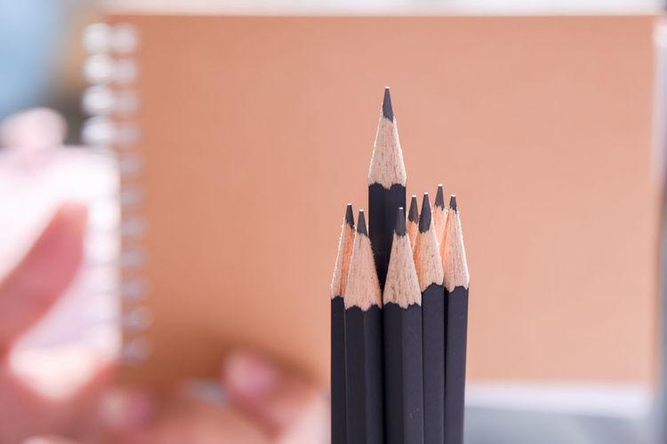 Close-Up Of Pencils