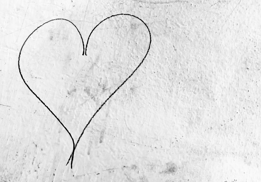 Concept or conceptual painted black abstract heart shape love symbol, dirty wall background, metaphor to urban and romantic valentine, grungy style. Abstract Art Backdrop Black Brush Concept Creative Day Design Dirty Drawing Drawn Frame Graffiti Grunge Hand Happy Heart Holiday Love Old Paint Painting Pattern Romantic