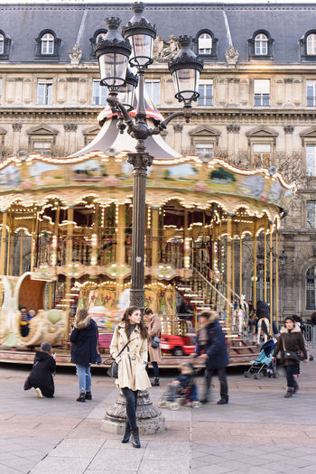 TCPM Carousel Casual Clothing One Young Woman Only Fashion EyeEmNewHere City Life Paris Outdoors One Person Long Exposure Poselongue Cityscape Time Lifestyles Street Beautiful Woman Standing Manège  Hôtel De Ville De Paris  Art ArtWork Amusement Park Amusement Park Ride People The Portraitist - 2017 EyeEm Awards Breathing Space Fashion Stories Love Yourself