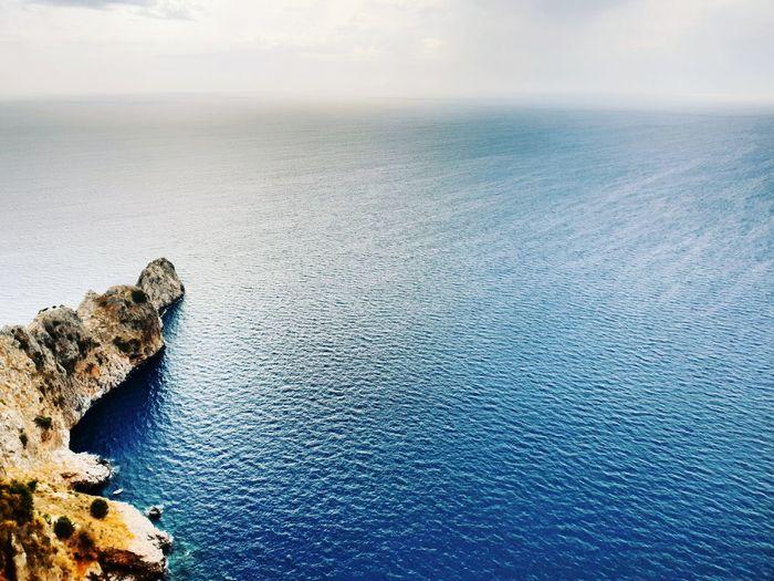 Turkey Alanya Water Sea Beach Reptile Sunset Blue Salt - Mineral Sky Horizon Over Water Landscape