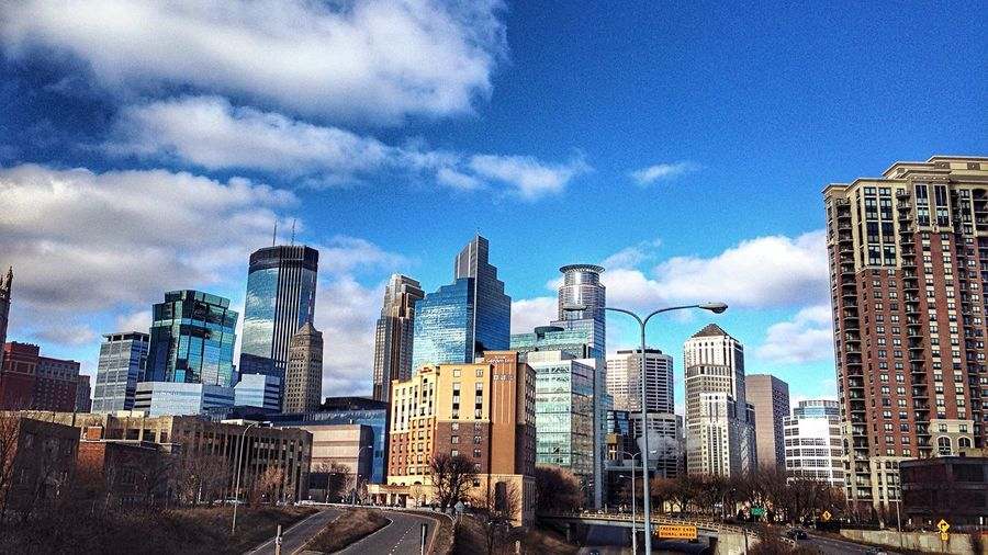Elliot Park Minneapolis DowntownMPLS Sky And Clouds Afternoon Blues Cityscapes Urban Landscape Urbanphotography Urban Photography Urbanscape City Skyline Light And Shadow Skyline Capella Tower IDS Tower