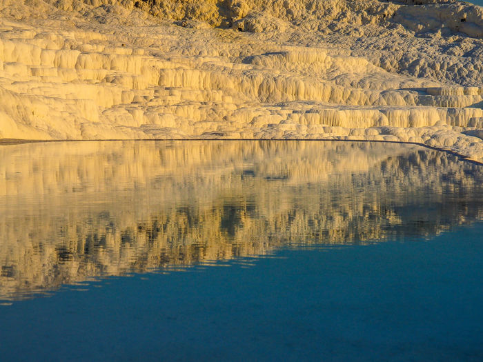 Scenic View Of Hot Spring At Pamukkale