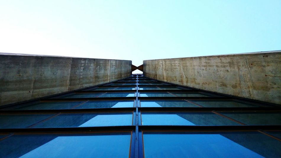 Church Taiwan Tunghai University Low Angle View Architecture Clear Sky Built Structure Building Exterior Blue Design Architecture Art Window