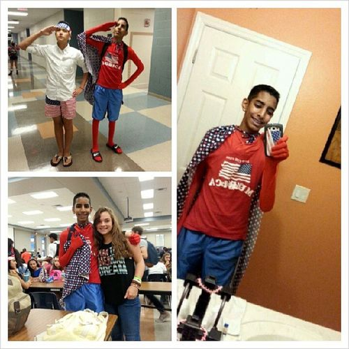 Homecoming Week Day 1: Murica Monday! Murica Happymuricamonday Actuallyagoodmonday Iwascaptainmurica orcaptainbrownssswwwaaaagggiwasthemostmuricaneventhoughimbrownwhatupdoeegottarepresentjkimbrownihadamotherfuckincapeitwasamazingthecapegotbitchesiwasthebestiamthebestIthinkineednewhashtagsliterallyliterallyaconversationinhashtagsyolorighthashtagthuglyfeimlaurensfavoritepersonniggasbejellyalexisnowmakessushihewillservesushiforeverImdone