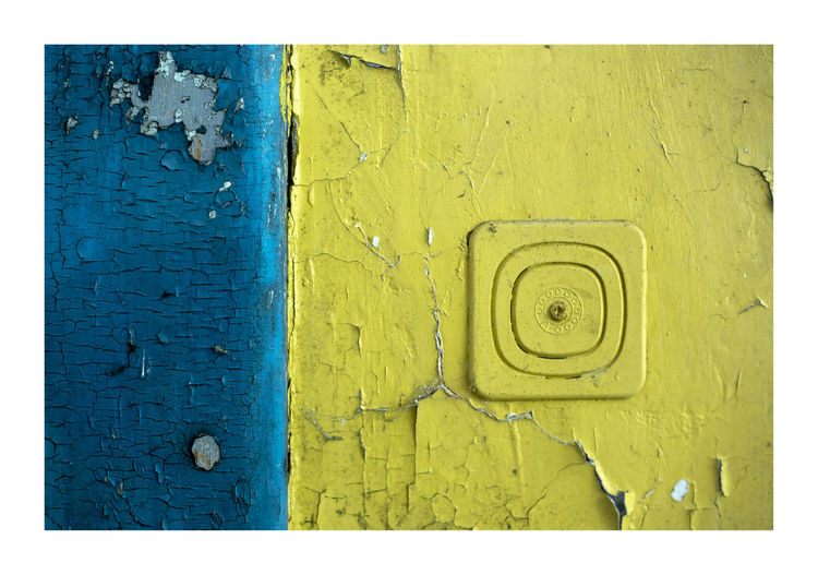 wall Backgrounds Blue Built Structure Close-up Color Colorful Colors Crack Fissure Geometric Shape Minimal Minimalism Minimalist Minimalistic No People Outdoors Painting Picture Rift Texture Textured  Wall Wall Wall - Building Feature Yellow