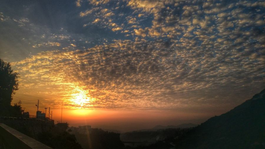 Sunset Jammu And Kashmir First Eyeem Photo Sunset_collection Katra Vaishnodevi Different Colors Sky Landscape