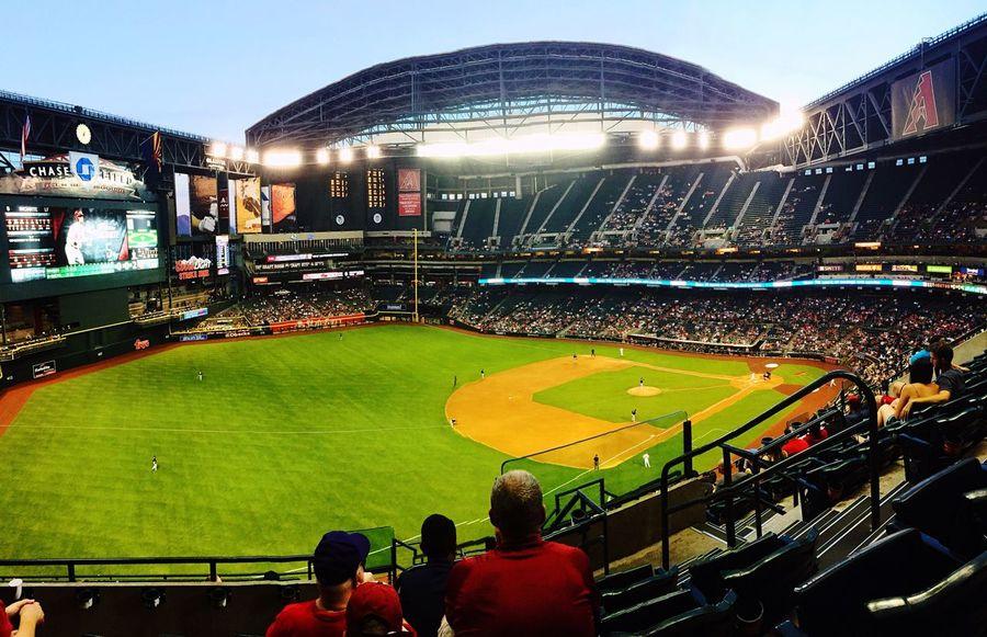 Taking in the Baseball Game Arizona