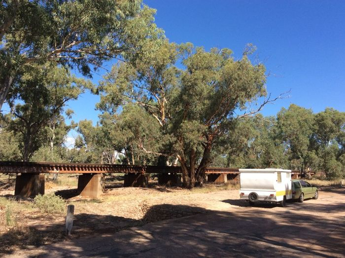 Mambray Creek , South Australia . Caravan Day Dry Creek Bed Gum Trees Country Australia Gate Nature No People Outdoors Railway Bridge Tree