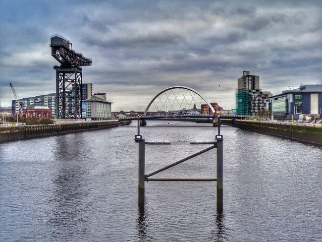 City Cityscape River Sky Water No People Bridge - Man Made Structure Cloud - Sky SquintyBridge River Clyde