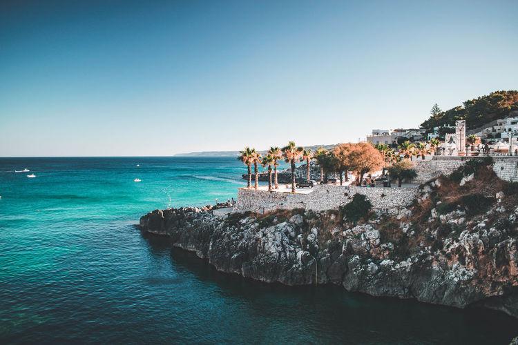 View on puglia sea