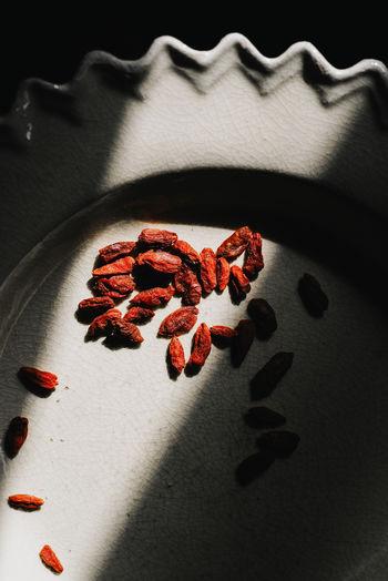 Goji Berries Berries Diet Dish Herb Light Snack Vegetarian Food Antioxidant Berry Dryed Fruit Goji Healthy Healthy Lifestyle Ingredient Nutrition Organic Red Color Shadow Superfood Sweet Vegetarian Lifestyle  Vitamin Wolfberry