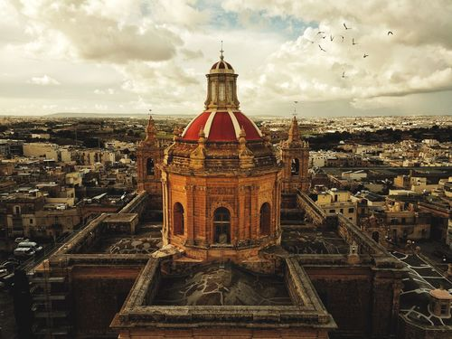 An aerial view of the Catholic Church in Zejtun, Malta Warm Warm Colors Sepia Sunset Church Architecture Church Dome Cross Roman Chatolic Roman Architecture Drone  Aerial View Aerial Shot Architecture Zejtun Malta Religion Cristian Parish Church Chatolic Church Dome Outdoors Stories From The City Stories From The City Stories From The City
