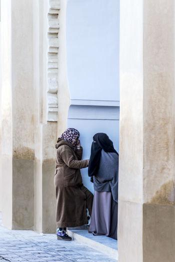Immigration Morocco Woman Burka  Burkah Burqa Human Immigrant Islam Islamic Migration People person Poverty Talking Veil Women First Eyeem Photo