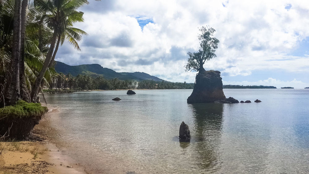 Northern Mariana Islands Northern Marianas Islands Bay Beach Beauty In Nature Cloud - Sky Day Guam Idyllic Land Mountain Nature No People Outdoors Plant Rock Scenics - Nature Sea Sky Stack Rock Tranquil Scene Tranquility Tree Water