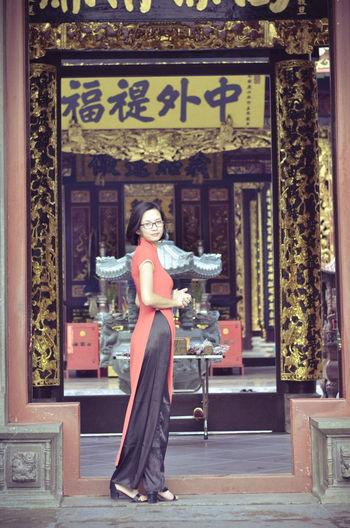Girl and Ao dai Viet Nam Ao Dai Vietnam Beautiful Beautiful Woman Flower Focus Object Girl Portrait Tet 2017 Tet Holiday Tet In Saigon Tết Việt Nam Viet Nam áo Dài ❤