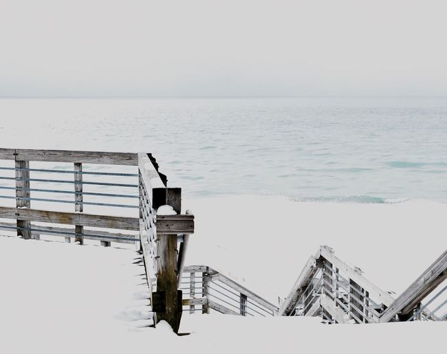 Exposed Winter Nikon Over Exposure Beach Deck Lake Michigan Lakeshore EyeEm Selects Water Sea Scenics Tranquility Nature No People Day Wood - Material Outdoors Beauty In Nature Built Structure Horizon Over Water Architecture
