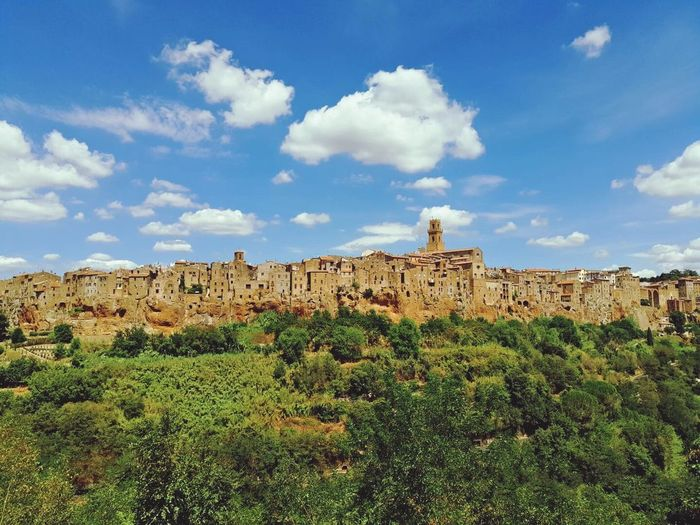 Pitigliano Tuscany Pitigliano Italy Italy Photos Houses Country Life Country Road Country Living Blue Sky And Clouds Blue Sky Exploration Summer2016 Colors Without People Tuscany Countryside Outdoors Summertime Sunlight Air Outdoor Photography Wall Decoration