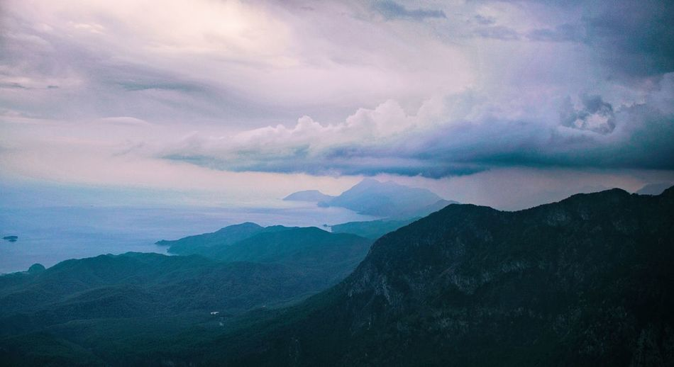 Nature Beauty In Nature Sky Scenics Mountain Tranquility Outdoors Cloud - Sky No People Landscape Sunset Day Milky Way Galaxy Beauty In Nature Nature Perspectives On Nature Green Color Beauty Freshness Skyline