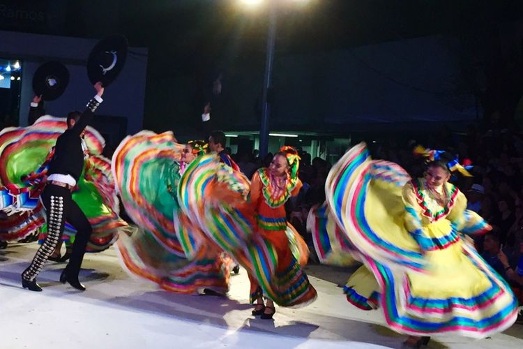 Multi Colored Illuminated Street Enjoyment Fun Person Outdoors Colorful Vibrant Color Mexican Folklor Baile Folclórico Mexican Culture Mexicolors Folklore Celebration Falda Zapateado Artistic Expression Dancing Mexico Night Mexico De Mis Amores