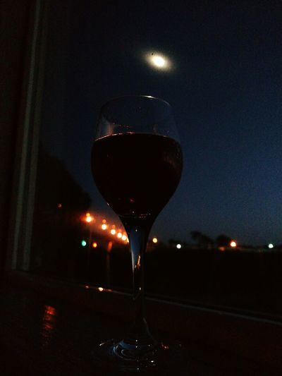 Wine Moments Wineglass Close-up Wine No People Indoors  Astronomy Night Star - Space Alcohol Constellation Space Moon Ocean❤ Half Full Indoors  Champgne Aperitif Red Food And Drink Drinking Glass Bridge Lights At Night Travel Destinations Wine Not