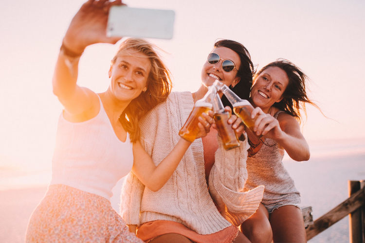 Selfie Happiness Smiling Emotion Friendship Fun Women Enjoyment Portrait Adult Cheerful Drink Summer Drinking Casual Clothing Alcohol Togetherness Sunglasses Holding Celebratory Toast Glass Technology Happy Taking Photos