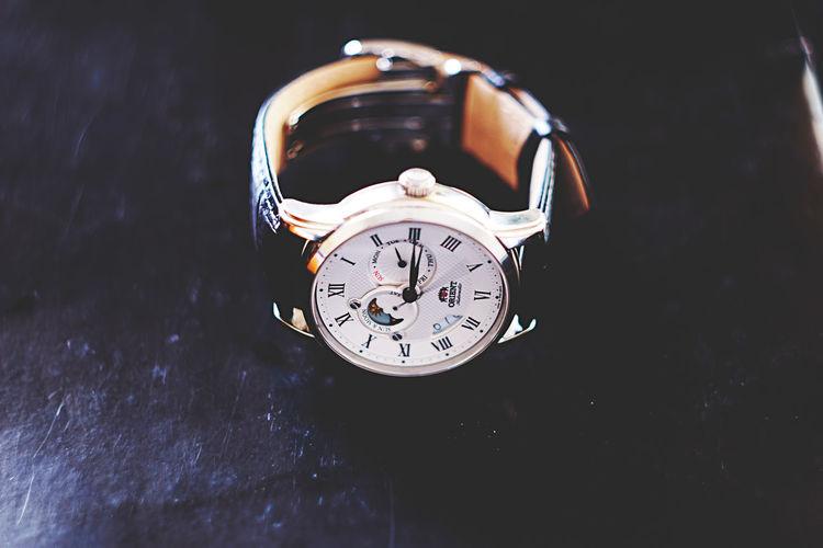 Orient Sun&Moon Automatic Bell Clock Clock Face Close-up Minute Hand Orient Orientwatch Time Watch