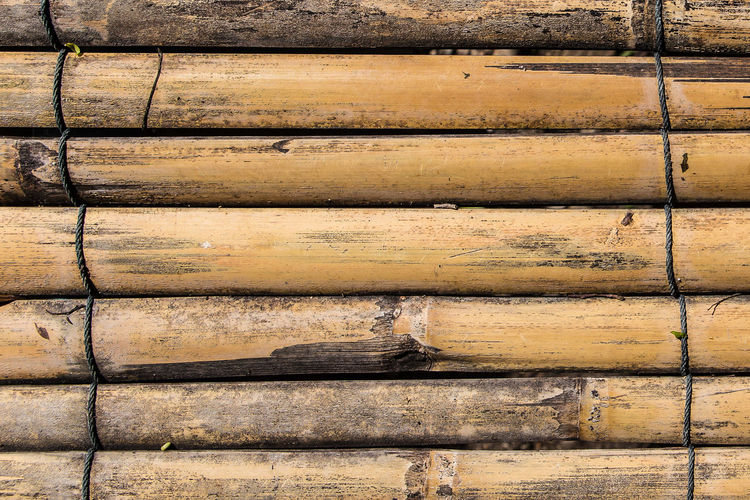 Bamboo pile texture background Pile Of Wood Arrangement Backgrounds Bamboo Brown Close-up Day Full Frame In A Row Large Group Of Objects No People Old Outdoors Pattern Pile Plank Repetition Stack Textured  Timber Wall - Building Feature Weathered Wood Wood - Material Wood Grain