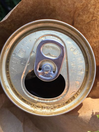 Beer Beverage Can Closeup Detail Metal Single Object Thirsty