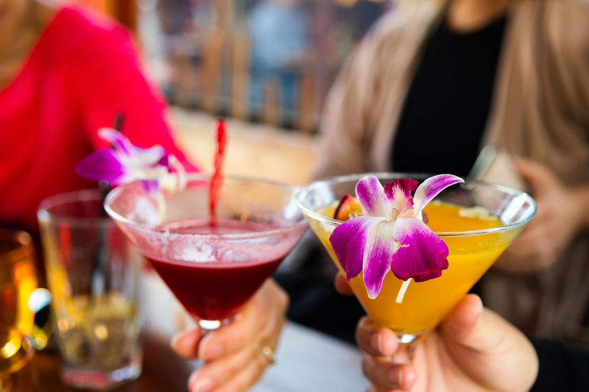 Tropical cocktails Cocktail Adult Alcohol Close-up Cocktail Drink Focus On Foreground Food And Drink Freshness Glass Hand Holding Household Equipment Human Hand Leisure Activity Lifestyles Nail One Person Real People Refreshment Women