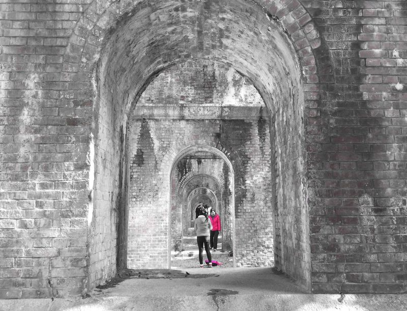Kyoto Kyoto,japan Blackandwhite Black & White Blackandwhite Photography EyeEm Best Shots - Black + White Monochrome B&w B&w Photography Pink People Brick Japan Japanese Culture 南禅寺 水路閣 京都 IPhoneography EyeEm Best Shots From My Point Of View