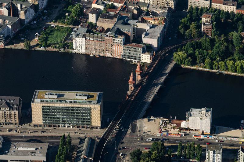 High Angle View Of Bridge In Berlin