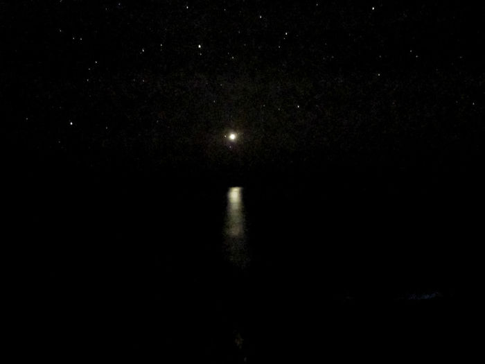 Astronomy Beauty In Nature Galaxy Illuminated Moon Nature Night No People Outdoors Reflections In The Water Scenics Sky Space Space Exploration Star - Space