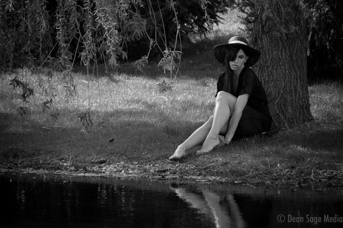 B&W Portrait Sasha By the Lake Gay Gayboy Drag Dragqueen  Fashion Nature Landscape Water