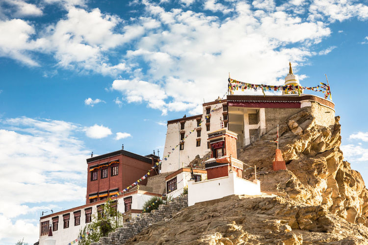 Thiksey Gompa, a tibetan buddhist monaestery in Ladakh, India Architecture ASIA Buddhism Building Exterior Built Structure City Cloud - Sky Day Himalayas India Jammu And Kashmir Ladakh Leh Low Angle View Monastery Mountians Nature No People Outdoors Peaceful Religion Sky Temple Travel