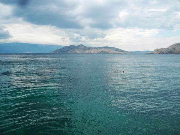 Baska,island Krk,Adriatic coast,Croatia,Europe,4 Adriatic Coast Adriatic Sea Baska Beauty In Nature Blue Cloud - Sky Croatia Day Europe Holidays Island Krk Mountain Nature No People Open Sea Outdoors Scenics Sea Sky Summer Tranquil Scene Tranquility Vacation Water Waterfront