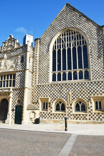 Frontage of Town Hall Kings Lynn Norfolk Architecture Built Structure Building Exterior Building City Hall Chequered Old Vintage Travel Destinations History The Past