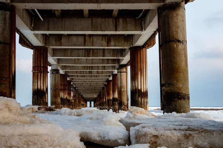 Frozen Hebei Ice Seashore Winter Architecture Beach Beidaihe Built Structure China Cold Temperature Day Nature No People Outdoors Qinhuangdao Sea Seascape Seaside Sky Snow Underneath