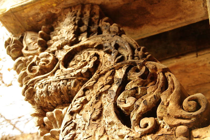 Abundance Ancient Civilization Art And Craft Backgrounds Brackets Brown Carvings Close-up Creativity Detail Directly Above Focus On Foreground Full Frame Ground Large Group Of Objects Natural Pattern No People Ornate Religion Selective Focus Textured  Wood