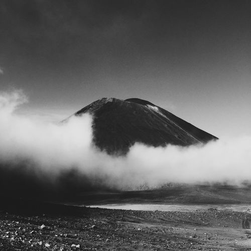 Scenic View Of Mountain Against Sky At Tongariro National Park