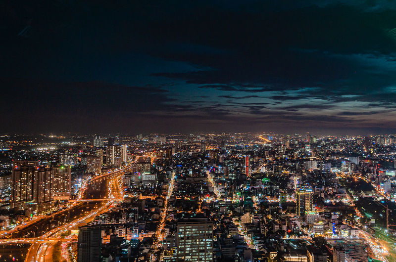 View by saigon skydeck at ho chi minh, by night