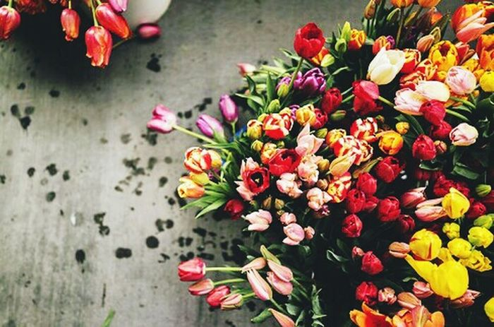 Market   Flowers 💐 Flower Fragility Flower Head Petal Beauty In Nature Blossom Freshness Red Nature Close-up Horizontal Outdoors No People Bouquet Day Rhododendron Tullip Tullips Street Life Street Photography Flowershop On The Street🌷💕 Flowershop Shop Flower Photography Low Light Photography
