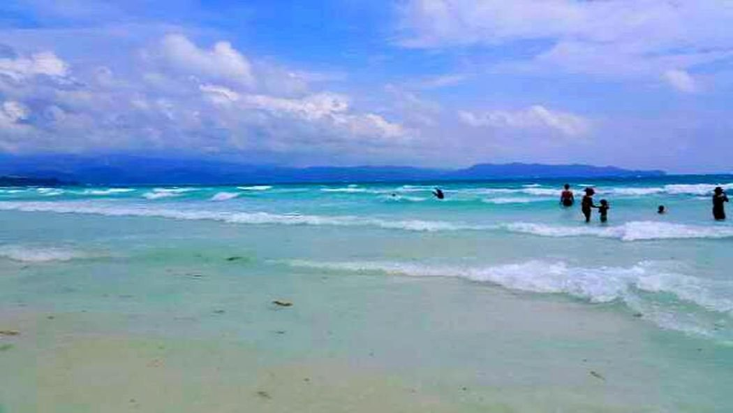 Sky And Clouds Beach Waves Beautiful Landscapes Boracay White Beach Traveling The World