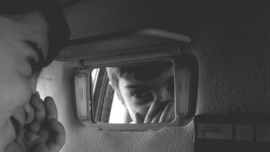 ~| Discovery of Self |~ IPhoneography Blackandwhite OpenEdit Streetphotography Streetphoto_bw Children Driving