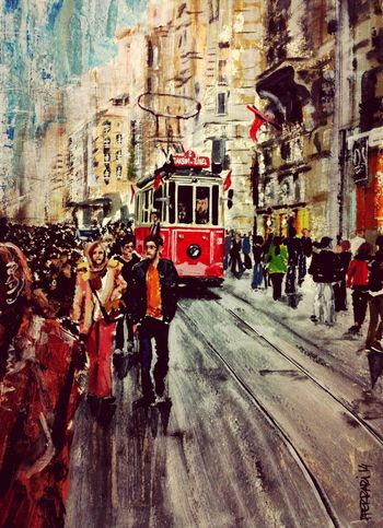 Art, Drawing, Creativity Acrylic Painting My Art Istambul
