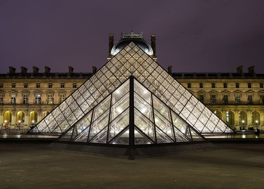 Louvre France Louvre Nightphotography Paris Building Glass Monument Museum The Architect - 2018 EyeEm Awards