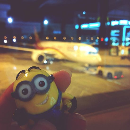 At The Airport good bye, Dalian and thanks for great holidays Minion  Dave's Adventures